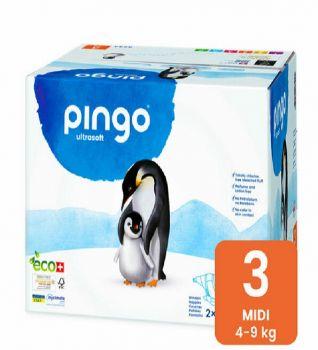 Pingo Couches Midi Taille 3 4-9kg/2*44pcs