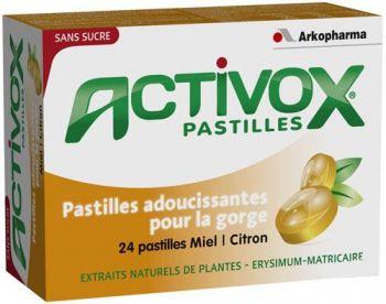ARKOPHARMA ACTIVOX ADOUCIT LA GORGE ENROUEMENT 24 PASTILLES