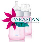 AVENT 2 BIBERONS 260ml PP TWIN PACK ROSE