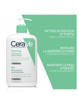 Cerave gel moussant peau grasse 473ml