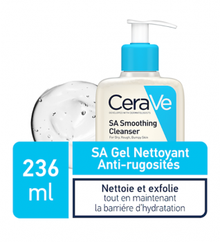 Cerave SA gel nettoyant anti-rugosites 236ml