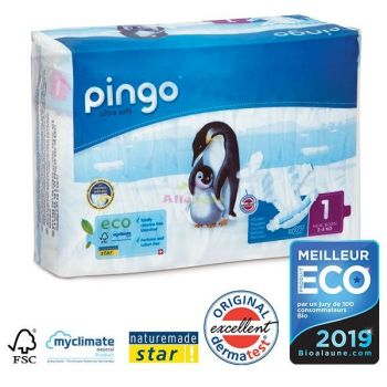 Pingo Couches New Born Taille 1 2-5kg/27pcs