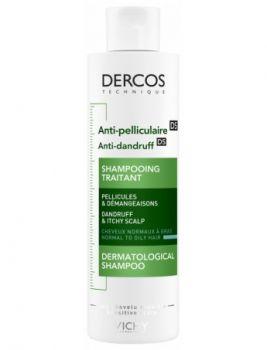 Dercos shampooing anti-pelleculaire cheveux gras 200ml