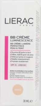 LIERAC BB CREME LUMINESCENCE LUMIERE PERFECTRICE PEAU ET TEINT SABLE 30ML