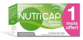NUTRISANTÉ NUTRICAP KÉRATINE VITALITÉ CHEVEUX ET ONGLES 90 CAPSULES