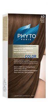 PHYTO COLOR COULEUR SOIN AUX PLANTES TINCTORIALES BLOND FONCE DORE N:6D