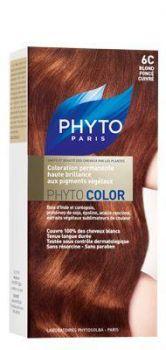 PHYTO COLOR COULEUR SOIN AUX PLANTES TINCTORIALES BLOND FONCE CUIVRE N:6C
