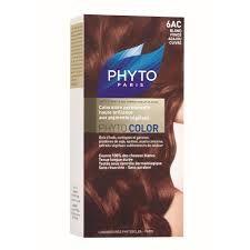 PHYTO COLOR COULEUR SOIN AUX PLANTES TINCTORIALES BLOND FONCE ACAJOU CUIVRE N:6AC