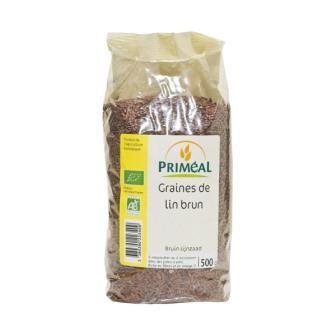 PRIMEAL GRAINES DE LIN BRUN 500G