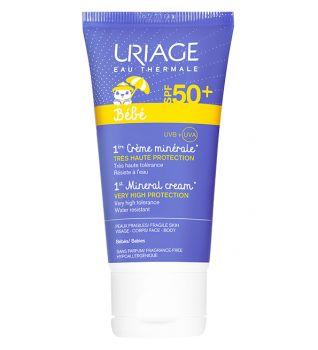 Uriage bebe 1er crème minéral spf50+ 50ml